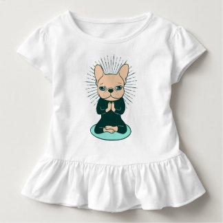 T-shirt Pour Les Tous Petits Méditez avec le Frenchie mignon pour rester le zen