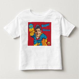 T-shirt Pour Les Tous Petits Modèle photo d'action personnalisé par super héros