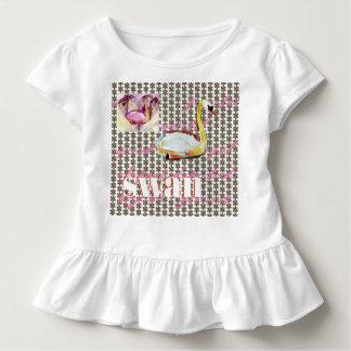 T-shirt Pour Les Tous Petits Motifs d'amour de cygne