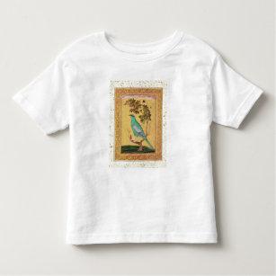 T-shirt Pour Les Tous Petits Oiseau vert, Mughal (gouache sur le papier)