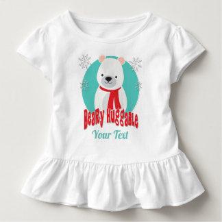 T-shirt Pour Les Tous Petits Ours gentil à croquer de Noël d'hiver de Beary