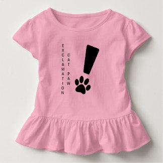 T-shirt Pour Les Tous Petits PATTE DE CAT D'EXCLAMATION ! Pièce en t de ruche