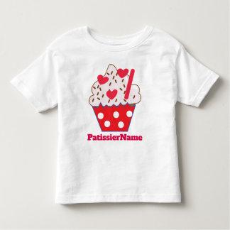 T-shirt Pour Les Tous Petits PETIT GÂTEAU de coeurs de fraise