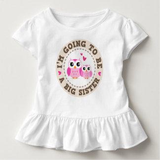T-shirt Pour Les Tous Petits Petit hibou rose mignon Im allant être une grande
