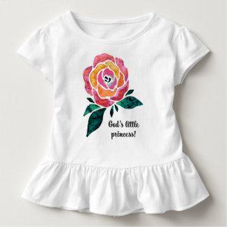T-shirt Pour Les Tous Petits Petite princesse Modern Toddler Ruffle Tee de Dieu