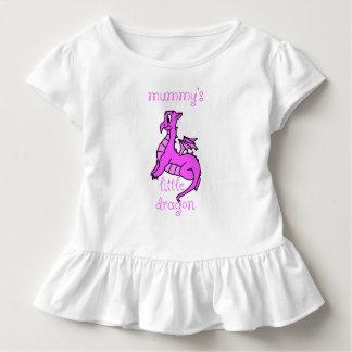 T-shirt Pour Les Tous Petits Peu de chemise de bébé du dragon de la maman