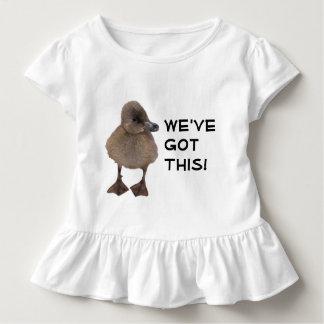 T-shirt Pour Les Tous Petits Photographie grise mignonne de caneton