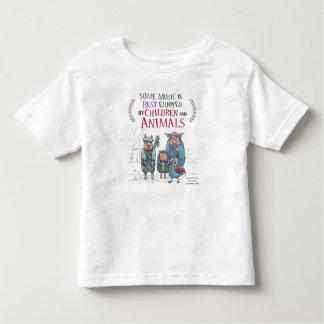 T-shirt Pour Les Tous Petits Pièce en t animale de bande
