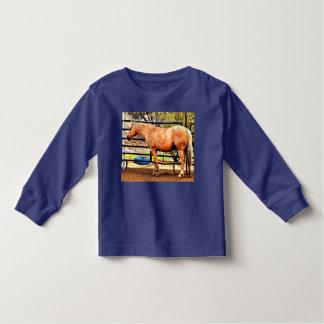 T-shirt Pour Les Tous Petits Pièce en t de douille de palomino d'enfant en bas