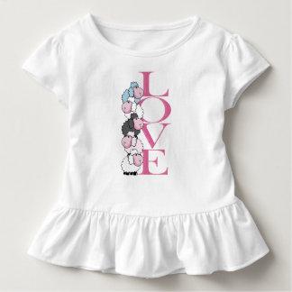 T-shirt Pour Les Tous Petits Pièce en t de ruche de la heureuse Sainte-Valentin