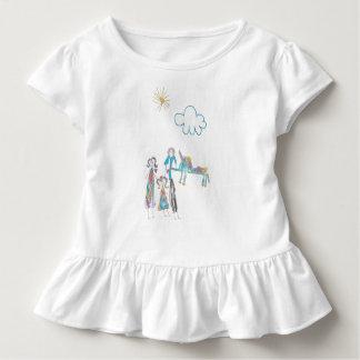 T-shirt Pour Les Tous Petits Pièce en t de ruche d'enfant en bas âge avec