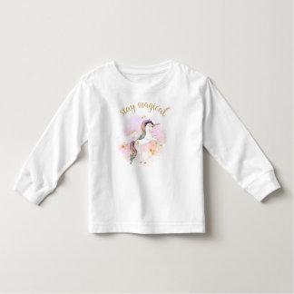T-shirt Pour Les Tous Petits Pièce en t magique de licorne d'arc-en-ciel de