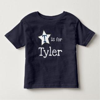 T-shirt Pour Les Tous Petits pièce en t nommée personnalisée pour le garçon