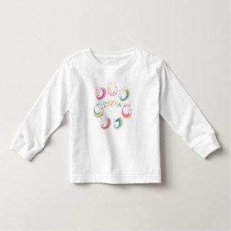T-shirt Pour Les Tous Petits Pièce en t rêveuse d'enfant en bas âge de licorne