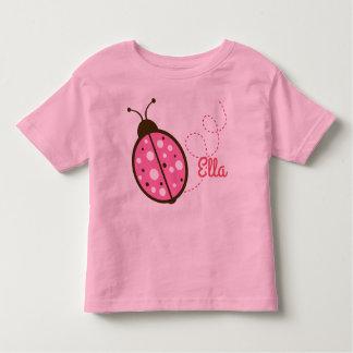 T-shirt Pour Les Tous Petits Pièce en t rose de petite fille de coccinelle