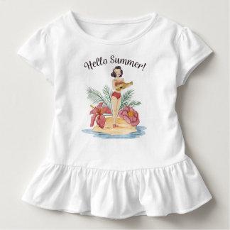 T-shirt Pour Les Tous Petits Pièce en t tropicale de ruche de la plage | d'été