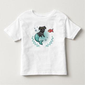 T-shirt Pour Les Tous Petits Pitbull de sirène