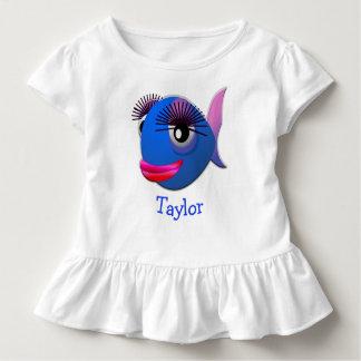 T-shirt Pour Les Tous Petits Poissons drôles mignons faits sur commande de