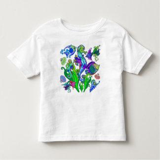 T-shirt Pour Les Tous Petits Poissons et hippocampes exotiques d'espèce marine
