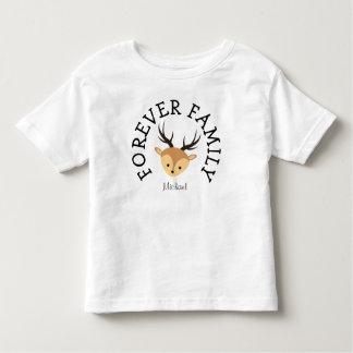 T-shirt Pour Les Tous Petits Pour toujours cadeau d'adoption de cerfs communs