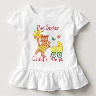 T-shirt Pour Les Tous Petits Poussette mignonne personnalisée de chat de grande