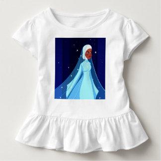 T-shirt Pour Les Tous Petits Princesse bleue Ruffle Tee de Hijab