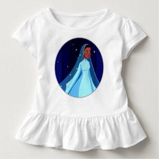 T-shirt Pour Les Tous Petits Princesse modeste bleue Ruffle Tee