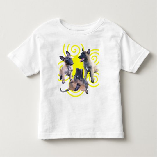 T-shirt Pour Les Tous Petits puppies malinois