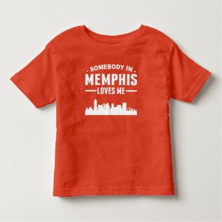 T-shirt Pour Les Tous Petits Quelqu'un à Memphis m'aime