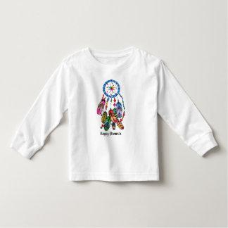 T-shirt Pour Les Tous Petits Receveur de rêve d'arc-en-ciel d'aquarelle et mots