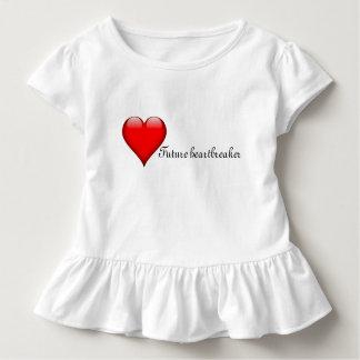 T-shirt Pour Les Tous Petits Robe/dessus de la Saint-Valentin des filles