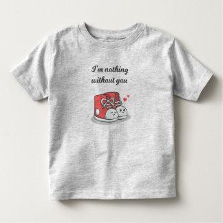T-shirt Pour Les Tous Petits Romantique drôle rien sans vous chemise de |