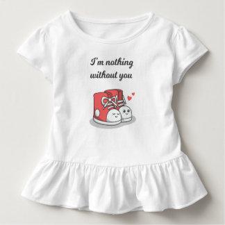 T-shirt Pour Les Tous Petits Romantique drôle rien sans vous pièce en t de