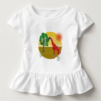 T-shirt Pour Les Tous Petits Sauvage africain de girafe grande colorée mignonne
