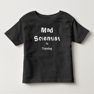 T-shirt Pour Les Tous Petits Scientifique fou dans le dessus de formation