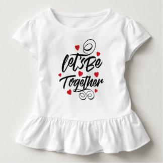 T-shirt Pour Les Tous Petits Simple laissez-nous soit ensemble pièce en t de