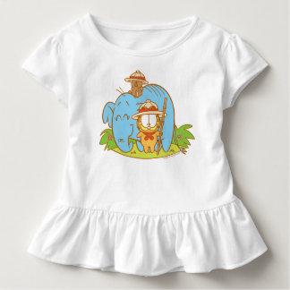 T-shirt Pour Les Tous Petits Simplement Garfield et Pooky avec un éléphant bleu