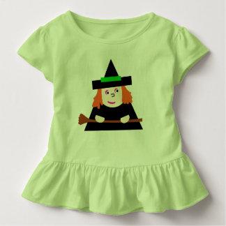 T-shirt Pour Les Tous Petits Tenue Bruxinha Verde Green Witch