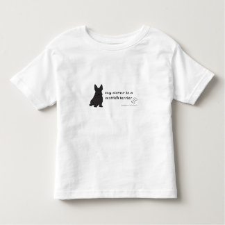 T-shirt Pour Les Tous Petits terrier écossais