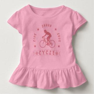 T-shirt Pour Les Tous Petits Texte de Live Laugh Love Cycle de Madame (rose)