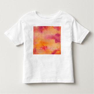 T-shirt Pour Les Tous Petits Touché par couleur pour aquarelle du feu