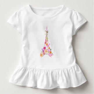 T-shirt Pour Les Tous Petits Tour Eiffel floral