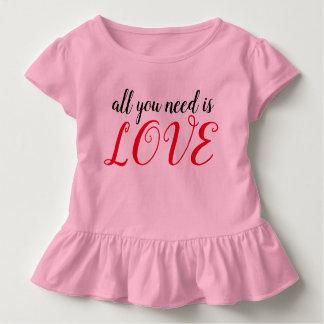 T-shirt Pour Les Tous Petits Tout que vous avez besoin est AMOUR