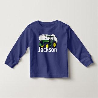 T-shirt Pour Les Tous Petits Tracteur vert personnalisé de ferme