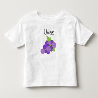 T-shirt Pour Les Tous Petits Uvas (raisins)