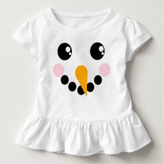 T-shirt Pour Les Tous Petits Visage de bonhomme de neige