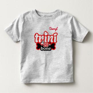 T-shirt Pour Les Tous Petits (Votre nom) os de Trini 2D