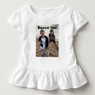 T-shirt Pour Les Tous Petits Voyage de plage votre chemise de photo