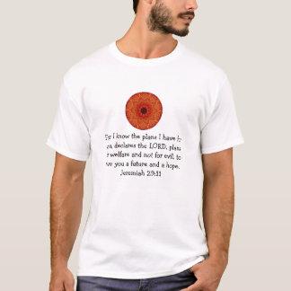 T-shirt Pour moi sais les plans que j'ai - le 29:11 de