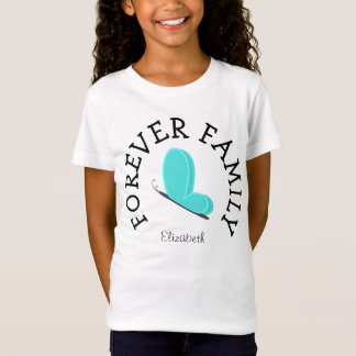 T-Shirt Pour toujours cadeau bleu d'adoption de papillon